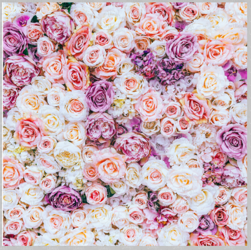Printed Vinyl & HTV Pastel Roses and Flowers Pattern