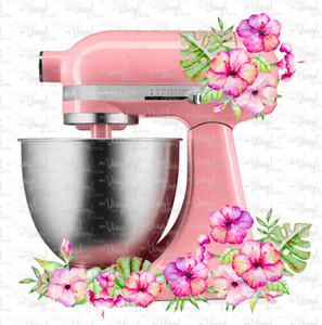 Digital Download Pink Kitchen Mixer JPG and PNG print file only