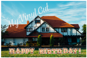 Yard Art Vintage Marquee Birthday Lawn Lettering PURCHASE Outdoor Party Decorations
