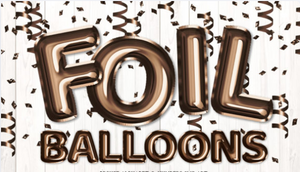 "23"" Foil Balloon Lettering for Outdoor Lawn Decorations Party Supplies"