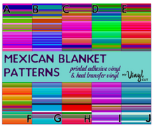 Load image into Gallery viewer, Printed HTV MEXICAN BLANKET Patterned Heat Transfer Vinyl 12 x 12 sheet