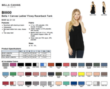 Load image into Gallery viewer, Bella Ladies Flowy Racerback Tank