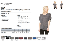 Load image into Gallery viewer, Bella Ladies Flowy Draped Sleeve Dolman