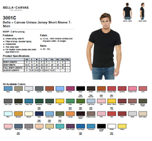 Load image into Gallery viewer, Bella Canvas Unisex Jersey Short Sleeve