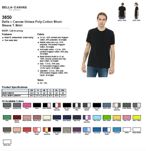 Bella Canvas Poly-Cotton Short Sleeve