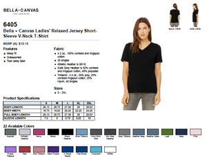 Bella Relaxed Jersey Short Sleeve V Neck