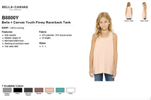 Load image into Gallery viewer, Bella Canvas Youth Flowy Racerback Tank