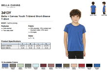Load image into Gallery viewer, Bella Canvas Youth Triblend Short Sleeve