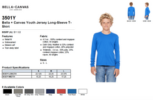 Load image into Gallery viewer, Bella Canvas Youth Jersey Long Sleeve