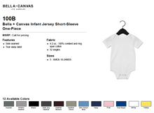 Load image into Gallery viewer, Bella Canvas Infant Jersey Short Sleeve One Piece