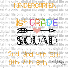 Load image into Gallery viewer, Digital File Grade Squad Kindergarten through 8th grade
