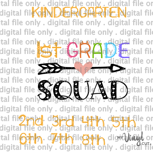 Digital File Grade Squad Kindergarten through 8th grade