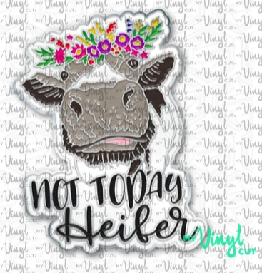 Enamel Pin Not Today Heifer Choose Pin or Magnetic clasp