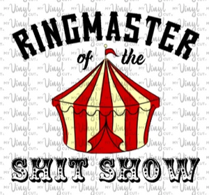 Waterslide Decal Ringmaster of the Shit Show
