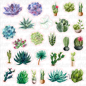 Sticker Sheet SUCCULENTS Full Sheet