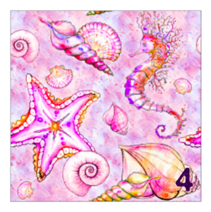 "Printed Adhesive Vinyl JOYFUL SIREN Patterned Vinyl 12 x 12"" sheet"