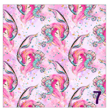 "Load image into Gallery viewer, Printed Adhesive Vinyl MERMAIDS, PLEASE Patterned Vinyl 12 x 12"" sheet"