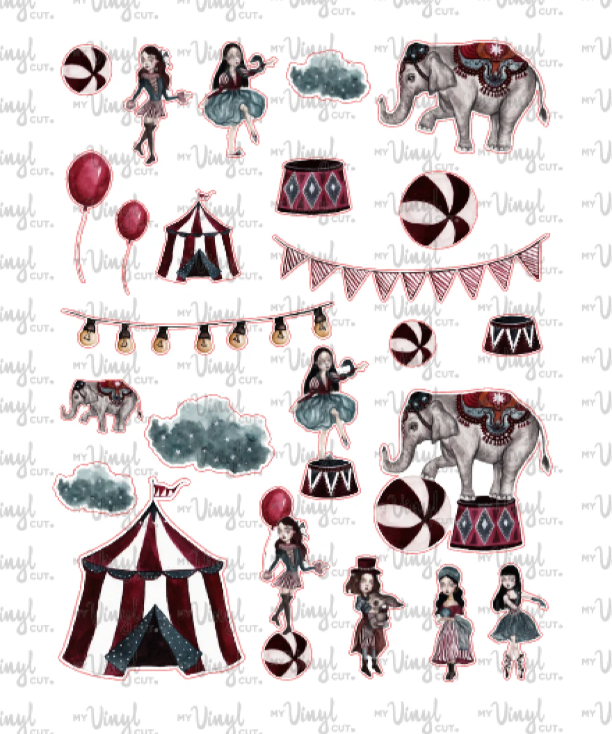 Sticker Sheet CIRCUS Half Sheet