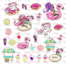 Load image into Gallery viewer, Sticker Sheet POOL PARTY Full Sheet