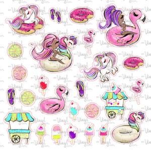 Sticker Sheet POOL PARTY Full Sheet