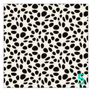 "Printed Adhesive Vinyl SPOTTED Black and White Modern Patterned Vinyl 12 x 12"" sheet"