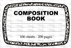 Waterslide Decal Composition Notebook Label