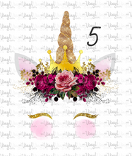 Load image into Gallery viewer, Waterslide Decal Crowned Unicorn Faces 6 to choose from PICK ONE OR ALL