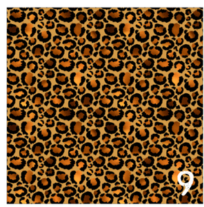 "Printed Adhesive Vinyl GOLDEN LEOPARD Patterned Vinyl 12 x 12"" sheet"