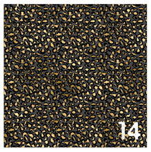"Load image into Gallery viewer, Printed Adhesive Vinyl GOLDEN LEOPARD Patterned Vinyl 12 x 12"" sheet"