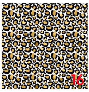 "Printed HTV GOLDEN LEOPARD Patterned Vinyl 12 x 12"" sheet"