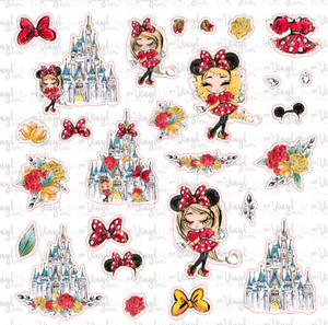 Sticker Sheet MOUSE UPON A TIME Full Sheet