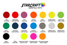 "Load image into Gallery viewer, StarCraft SoftFlex HTV 19 colors Heat Transfer Vinyl 12 x 12"" sheets"