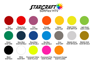 StarCraft SoftFlex HTV 19 colors Heat Transfer Vinyl 12 x 12