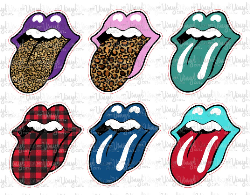 Mini Sticker Sheet 6 Tongues (pack 2)