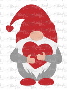 Waterslide Decal Gnome holding a heart Valentine's day