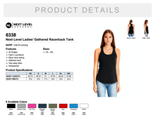 Load image into Gallery viewer, Next Level Ladies' Gathered Racerback Tank