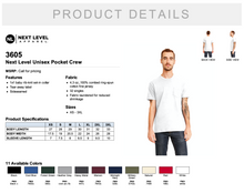 Load image into Gallery viewer, Next Level Unisex Pocket Crew