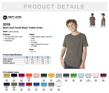 Load image into Gallery viewer, Next Level Youth Boys' Cotton Crew