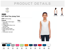 Load image into Gallery viewer, LAT Girls' Fine Jersey Tank