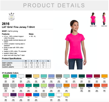 Load image into Gallery viewer, LAT Girls' Fine Jersey T shirt