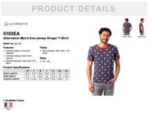 Load image into Gallery viewer, Alternative Men's Eco-Jersey Ringer T Shirt
