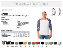 Load image into Gallery viewer, Alternative Unisex Baseball Eco-Jersey T Shirt
