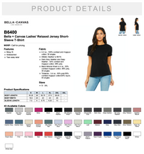 Load image into Gallery viewer, Bella Relaxed Jersey Short Sleeve T Shirt