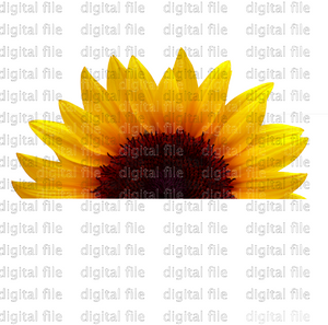 Digital Download Half Sunflower