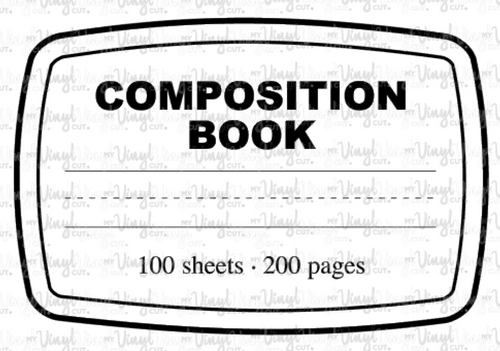 Waterslide Decal Composition Notebook Label Clear