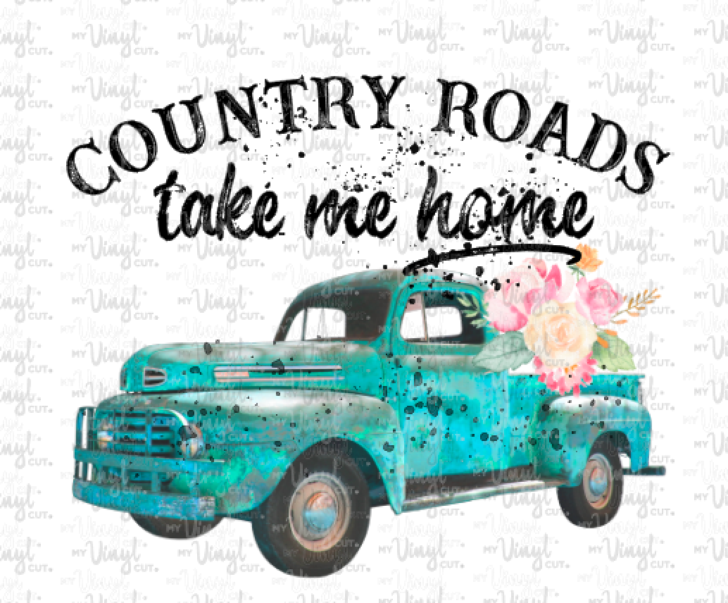 Waterslide Decal Country Roads Take Me Home