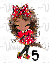 Load image into Gallery viewer, Sublimation Transfer Minnie Girls! 8 1/2 x 11' sheet