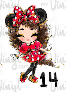 Sublimation Transfer Minnie Girls! 8 1/2 x 11' sheet