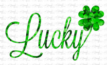 Load image into Gallery viewer, Waterslide Decal Lucky with clover pattern