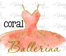 Load image into Gallery viewer, Waterslide Decal Ballerina Tutu Choose your color